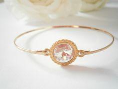 Bridal Bangle Bracelet - Swarovski Crystal Bangles -  Clear Crystal Bracelets - Wedding Jewellery - Bridal Jewelry - Bridesmaid Gifts by GlamorousSparkle on Etsy