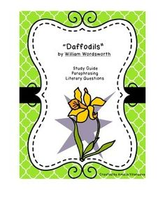 """Study Guide for """"Daffodils"""" by William Wordsworth (with key)"""