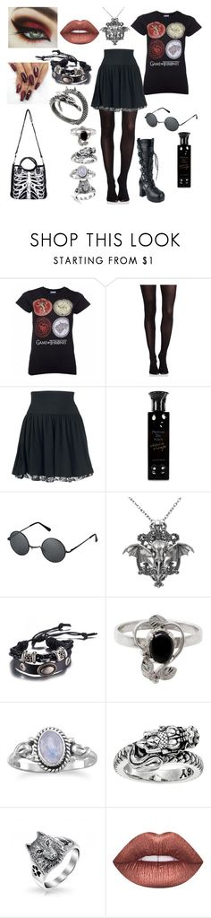 """""""game of thrones"""" by banasheeanni ❤ liked on Polyvore featuring SPANX, Profumi Del Forte, NOVICA, King Baby Studio and Lime Crime"""