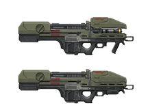 ArtStation - Halo weapons lineup, Isaac Hannaford