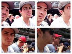 Kevin and Nick Jonas - Yankees game. NYC. June 22, 2013 - Sunglasses Day at Yankee Stadium