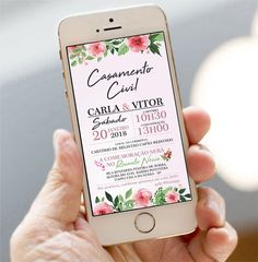 Veja mais no site Electronic Invitations, Digital Invitations, Wedding Invitations, Marry Me, Wedding Tips, Save The Date, Big Day, Perfect Wedding, Wedding Decorations