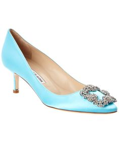 MANOLO BLAHNIK Manolo Blahnik Hangisi 50Mm Satin Pump'. #manoloblahnik #shoes #pumps & high heels