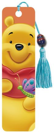 Winnie The Pooh - Collectors Beaded Bookmark