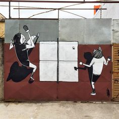 Funny Black & White Mural Artworks  Alex Senna is Brazilian street-artist with a childish and fun universe. He plays with perspectives and urban elements to create artworks that ornament façades all in monochrome. Illustrations that play with daily life moments. An atypical universe to discover below.       #xemtvhay