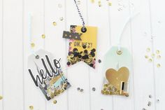 Shaker Gift Tags featuring the Photo Sleeve Fuse tool by Laura Silva for We R Memory Keepers.