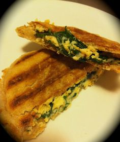 Healthy Grilled Cheese. Best ever laughing cow wedge only 1 point per triangle