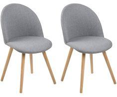 Krzesło Nora, 2 szt., Jasnoszary