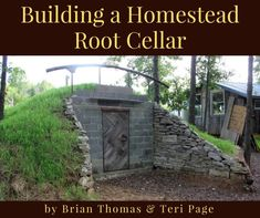 Building a Homestead Root Cellar by Brian Thomas and Teri Page. A step by step how-to guide to building your own concrete block walk-out root cellar so that you too can preserve food for long term storage. Root Cellar Plans, Fruit And Vegetable Storage, Cellar Design, Education Architecture, In Vino Veritas, Italian Wine, Concrete Blocks, Hobby Farms, Garden Planning