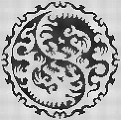 Ravelry: Dragon YingYang pattern by Taith Nanethcan