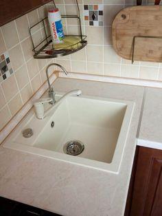 Белая мойка из искусственного камня Kitchen Room Design, Sink, House, Home Decor, Design Of Kitchen, Sink Tops, Vessel Sink, Decoration Home, Home