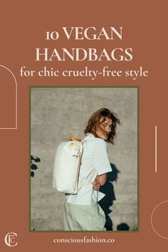 This post features incredible ethical and eco-friendly vegan bag brands, made from materials like Piñatex, BANANATEX®, cork, upcycled plastic, and apple leather for their chic sustainable handbags! #veganhandbags #veganhandbagsluxury World Of Fashion, Fashion Brands, Luxury Fashion, Sustainable Fabrics, Sustainable Fashion, Vegan Bag, Vegan Handbags, Eco Friendly Fashion, Travel Cosmetic Bags