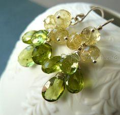 dangle earrings - apple green peridot  want them now