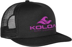 60f595439a8 Koloa Surf Classic Mesh Back Trucker Hats in 12 Colors - Neon Pink  Embroidered Logo on Black Hat - CH12EDPT95B