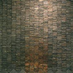 "Dugald MacInnes ""Orogeny"" 100x100 cm Scottish slate"