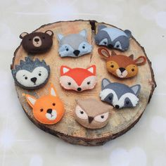 Woodland animals Forest animals Felt animals Woodland plush Woodland cake topper Woodland nursery fox raccoon wolf bear christmas decoration by MiracleInspiration on Etsy https://www.etsy.com/listing/511464656/woodland-animals-forest-animals-felt
