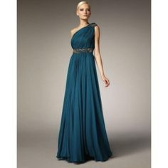 Marchesa Couture - Grecian One-Shoulder Gown - Bergdorf Goodman from Bergdorf Goodman. Saved to Dreaming. Bridesmaid Dresses, Prom Dresses, Formal Dresses, Wedding Dresses, Bridesmaids, Long Dresses, Pretty Dresses, Beautiful Dresses, Gorgeous Dress