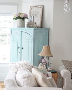 Chalk Paint DIY Cabinet | B Vintage, Country Chic paint, Duck Egg, White wash chalk paint, White wash, shabby chic, shabby chic furniture, painted furniture
