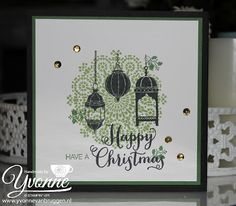 Yvonne is Stampin' & Scrapping. Stampin Up Christmas, Christmas Cards To Make, Xmas Cards, Holiday Cards, Ramadan Cards, Eid Cards, Stampin Up Anleitung, Eid Greetings, Stampin Up Catalog