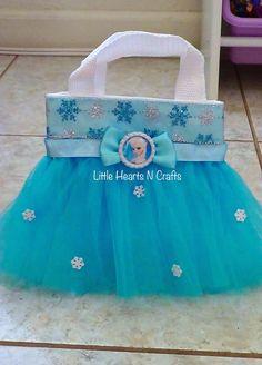 These are cute!  perfect hostess gift!  Frozen Snowflake Princess tutu purse canvas tote bag