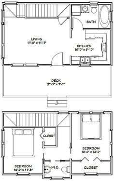 28x16 Tiny House -- This may be my favorite layout.