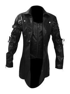 Looking for Steampunk Black Renaissance Punk Faux Leather Victorian Gothic Coat ? Check out our picks for the Steampunk Black Renaissance Punk Faux Leather Victorian Gothic Coat from the popular stores - all in one. Gothic Trench Coat, Leather Trench Coat, Mens Leather Coats, Men's Leather, Leather Jackets, Real Leather, White Leather, Sheep Leather, Steampunk Outfits