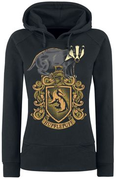 Hufflepuff Hooded sweater – Buy now at EMP – More Fan merch Film Hufflepuff available online - Unbeatable prices! Harry Potter Hoodie, Mode Harry Potter, Harry Potter Girl, Harry Potter Wizard, Harry Potter Cosplay, Harry Potter Style, Yer A Wizard Harry, Harry Potter Outfits, Hufflepuff Merchandise