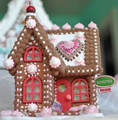 Bean Sprinkle Arts Cherry Heart Bakery Gingerbread House
