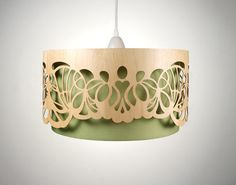 XXL Lampshade made of wood with cut-outs / Handmade