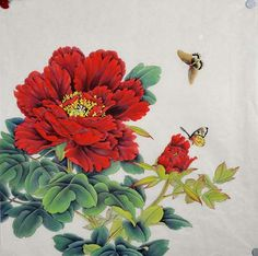 Butterflies with Peony Flowers (Chinese Painting)