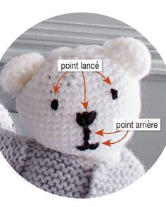 Maille après maille, tricoter un doudou ourson avec deux pelotes de laine c'e… Mesh after knitting, knitting a teddy bear with two balls of wool is possible with this tutorial for insiders. Knitting Patterns, Knit Crochet, Crochet Hats, Knitted Teddy Bear, Barbie, Funny Socks, Rubber Flooring, Fitness Gifts, Baby Outfits
