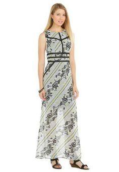 fdb38bdb82 Cato Fashions Sheer Floral Maxi Dress-Plus  CatoFashions  CatoSummerStyle Plus  Dresses