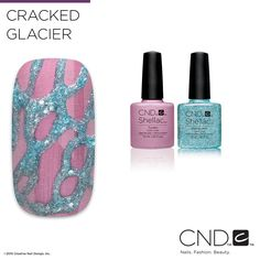 Nail Pros - Learn how to create this Cracked Glacier nail design with the how-to found on the Nail Art Gallery on cnd.com!
