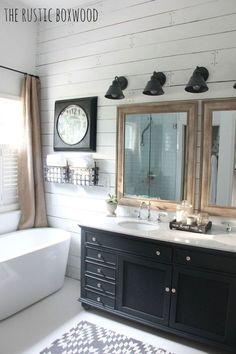 Wonderful Urban Farmhouse Master Bathroom Remodel (32)