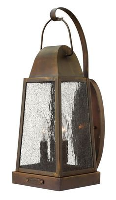 """Hinkley Lighting 1775 19.75"""" Height 3 Light Lantern Outdoor Wall Sconce from the Sienna Outdoor Lighting Wall Sconces Outdoor Wall Sconces"""
