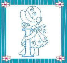 Sunbonnet Alphabet - Kreative Kiwi Embroidery | OregonPatchWorks