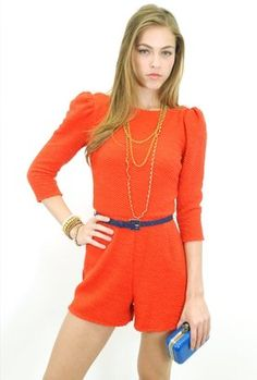 ShopStyle: Ark & Co. Belted Romper in Coral
