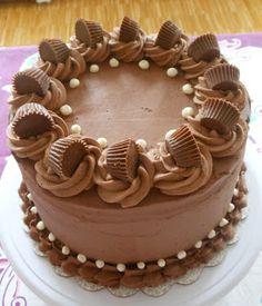 The Sugary Shrink: Signature Chocolate Peanut Butter Cake Chocolate Cake Designs, Chocolate Recipes, Cake Decorating Videos, Cake Decorating Techniques, Triple Layer Chocolate Cake, Cake Shapes, Buttercream Cake, Chocolate Buttercream, Classic Cake