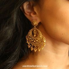 Gold designer chandbalis