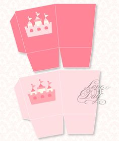 Pinkalicious Princess Birthday PRINTABLE Party Favor Boxes by Love The Day, via Etsy.