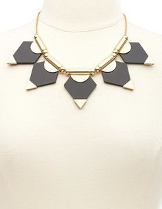 Geometric Lucite Statement Collar Necklace - $12.99