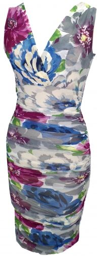 New Life Lined Sleeveless Ruche Dress from Petit Pois