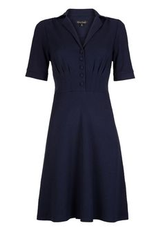 Køb Tante Betsy blå kjole med ræve print. Fri fragt | Kjole