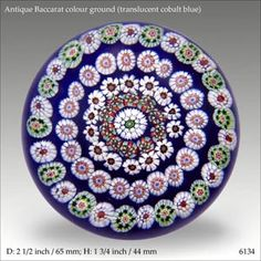 Antique Baccarat colour ground paperweight (ref. 6134)