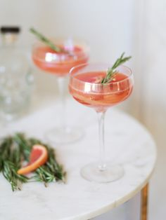 Grapefruit & Elderflower Cocktails.  Ingredients  25ml gin 25ml St Germain 200ml grapefruit juice  Method  It's easy really; add a handful of ice to a cocktail shaker, then add your liquid ingredients. Pop the lid on tight and give it a good shake, before straining in to your waiting glass. Garnish with a slice of grapefruit, a spring of rosemary and you're all set. The recipe above makes one glass, so double if you have company.