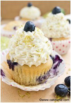 Blueberry lime cupcakes - Cakewhiz