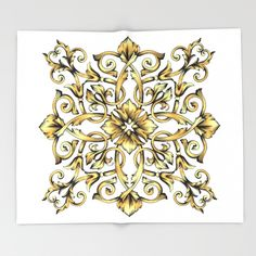 Royal Throw Blanket by Salome | Society6