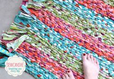 Show Off Saturday: My big braided rug... total stash buster!  SEW CAN SHE rug.jpg
