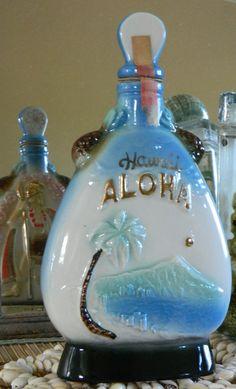 Aloha Hawaii Jim Beam Vintage Whiskey Decanter by MaiAloha on Etsy, $42.00