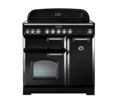 Buy RANGEMASTER Classic Deluxe 90 Induction Range Cooker - Black & Chrome | Free Delivery | Currys